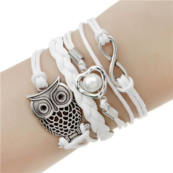 Multi-layer Leather Charm Bracelet Jewelry & Watches / Fashion Jewelry / Bracelets & Bangles - shop in usa - canada - UK - Spain - France - Germany - Netherlands - Sweden - 2pcs 15
