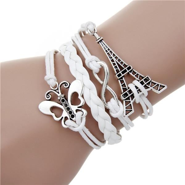 Multi-layer Leather Charm Bracelet Jewelry & Watches / Fashion Jewelry / Bracelets & Bangles - shop in usa - canada - UK - Spain - France - Germany - Netherlands - Sweden - 2pcs 11