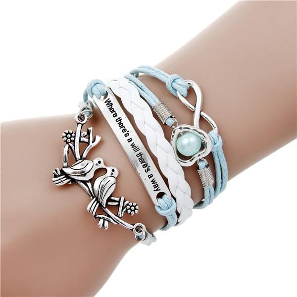 Multi-layer Leather Charm Bracelet Jewelry & Watches / Fashion Jewelry / Bracelets & Bangles - shop in usa - canada - UK - Spain - France - Germany - Netherlands - Sweden - 2pcs 9