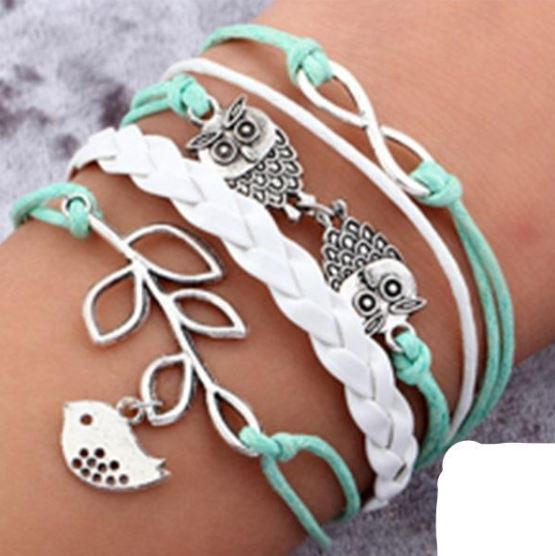 Multi-layer Leather Charm Bracelet Jewelry & Watches / Fashion Jewelry / Bracelets & Bangles - shop in usa - canada - UK - Spain - France - Germany - Netherlands - Sweden - 2pcs 18