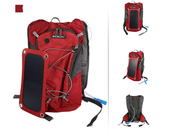 Outdoor Riding Solar Charging Backpack Bag & Shoes / Men's Luggage & Bags / Men's Backpacks - shop in usa - canada - UK - Spain - France - Germany - Netherlands - Sweden - Red