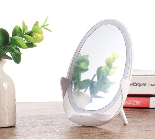 Phone Wireless Charger with Mirror Lamp Consumer Electronics / Accessories & Parts / Charger - shop in usa - canada - UK - Spain - France - Germany - Netherlands - Sweden - Bright moon white