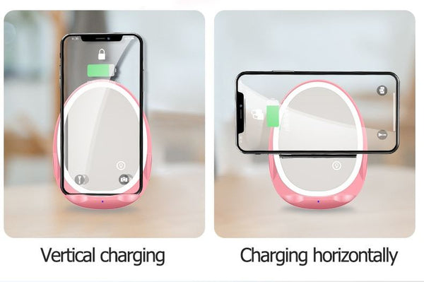 Phone Wireless Charger with Mirror Lamp Consumer Electronics / Accessories & Parts / Charger - shop in usa - canada - UK - Spain - France - Germany - Netherlands - Sweden -