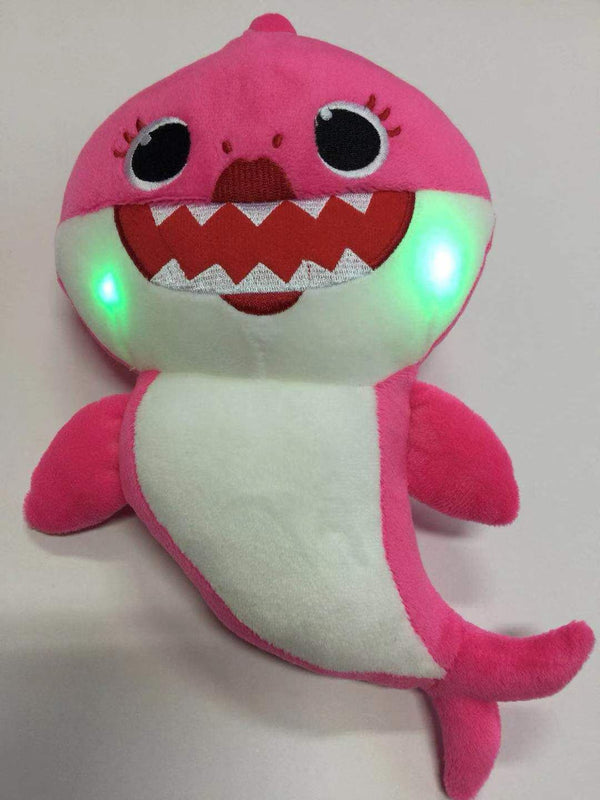 Plush Toys Will Sing Shark Baby Glow Toys, Kids & Baby / Toys & Hobbies / Stuffed & Plush Animals - shop in usa - canada - UK - Spain - France - Germany - Netherlands - Sweden - red 30cm