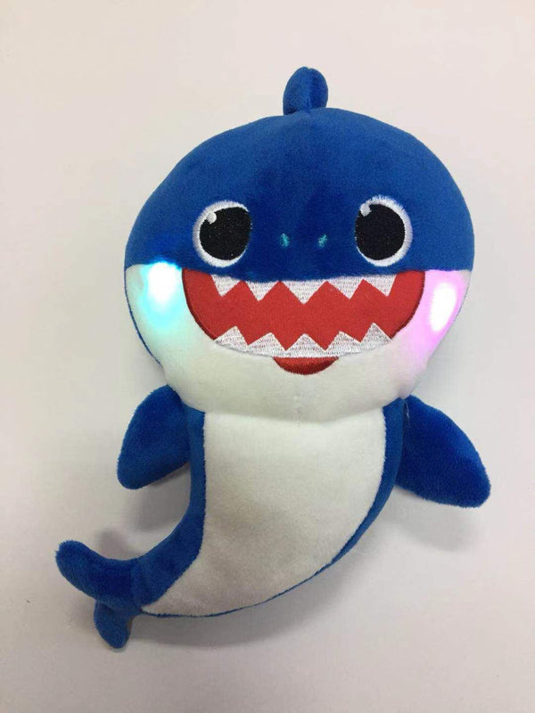 Plush Toys Will Sing Shark Baby Glow Toys, Kids & Baby / Toys & Hobbies / Stuffed & Plush Animals - shop in usa - canada - UK - Spain - France - Germany - Netherlands - Sweden - blue 30cm