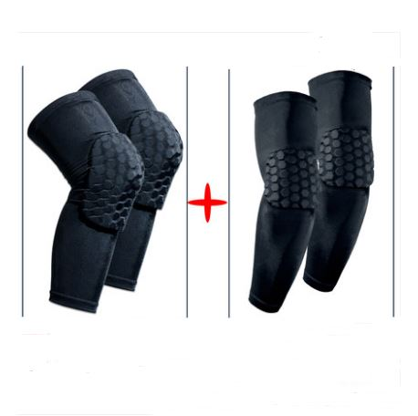 Protective Sports Knee Pad Men's Clothing / Accessories / Socks - shop in usa - canada - UK - Spain - France - Germany - Netherlands - Sweden - Black Kneepad Arm guard L a pair