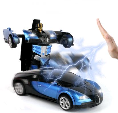 Remote Control Electric Robot Car Toys, Kids & Baby / Toys & Hobbies / Electronic Pets - shop in usa - canada - UK - Spain - France - Germany - Netherlands - Sweden - Blue gaudi 32CM