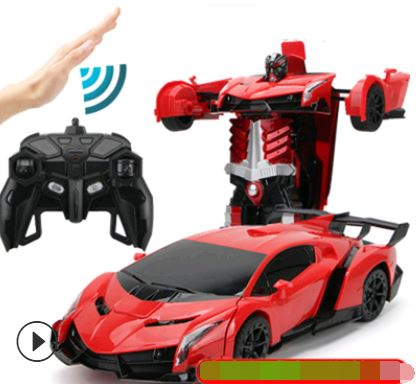 Remote Control Electric Robot Car Toys, Kids & Baby / Toys & Hobbies / Electronic Pets - shop in usa - canada - UK - Spain - France - Germany - Netherlands - Sweden - Red lanbo 32CM