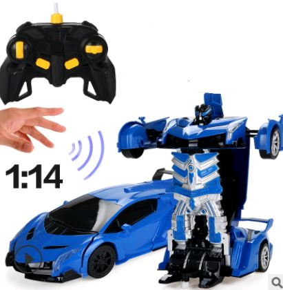 Remote Control Electric Robot Car Toys, Kids & Baby / Toys & Hobbies / Electronic Pets - shop in usa - canada - UK - Spain - France - Germany - Netherlands - Sweden - Blue Rambo 32CM