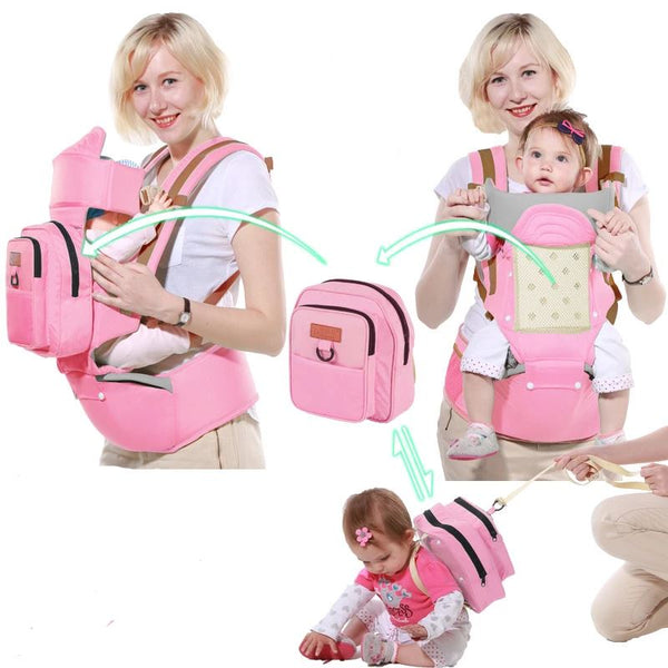 Single Shoulder Waist Stool Baby Toys, Kids & Baby / Baby & Mother / Backpacks & Carriers - shop in usa - canada - UK - Spain - France - Germany - Netherlands - Sweden - Pink