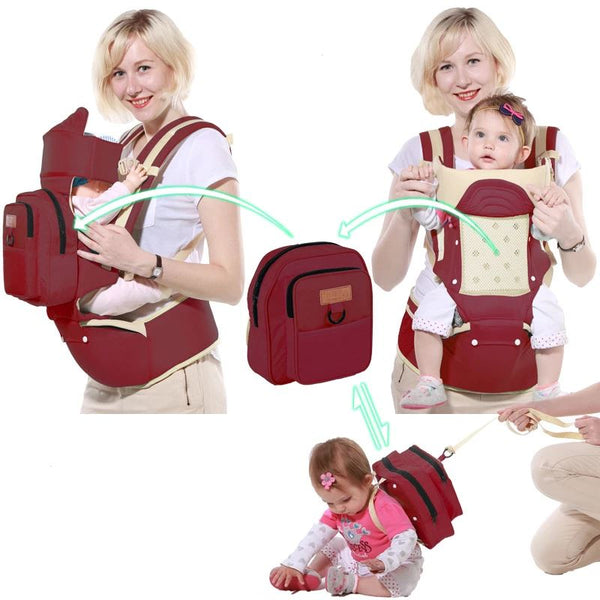 Single Shoulder Waist Stool Baby Toys, Kids & Baby / Baby & Mother / Backpacks & Carriers - shop in usa - canada - UK - Spain - France - Germany - Netherlands - Sweden - Red Wine