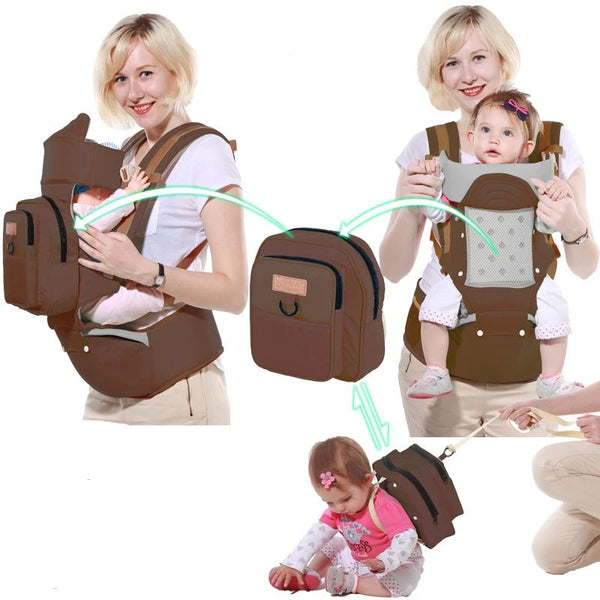 Single Shoulder Waist Stool Baby Toys, Kids & Baby / Baby & Mother / Backpacks & Carriers - shop in usa - canada - UK - Spain - France - Germany - Netherlands - Sweden - Coffee