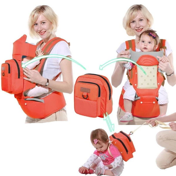 Single Shoulder Waist Stool Baby Toys, Kids & Baby / Baby & Mother / Backpacks & Carriers - shop in usa - canada - UK - Spain - France - Germany - Netherlands - Sweden - Orange