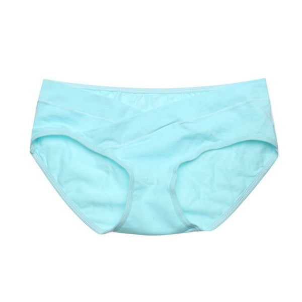 Soft Cotton Belly Support Panties for Pregnant Women Women's Clothing / Underwears / Panties - shop in usa - canada - UK - Spain - France - Germany - Netherlands - Sweden - Blue L