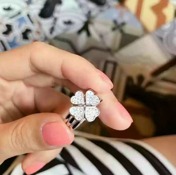 Sterling Silver Clover Ring Jewelry & Watches / Fashion Jewelry / Rings - shop in usa - canada - UK - Spain - France - Germany - Netherlands - Sweden -