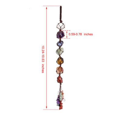 The 7 Chakra Healing Tassel Health & Beauty, Hair / Beauty Tools / Massage & Relaxation - shop in usa - canada - UK - Spain - France - Germany - Netherlands - Sweden -