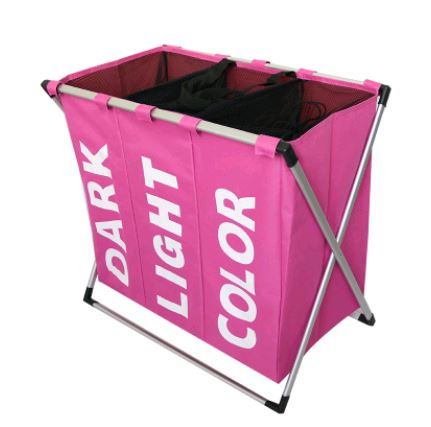 THREE GRID BASKET STORAGE BAG Others - shop in usa - canada - UK - Spain - France - Germany - Netherlands - Sweden - Pink
