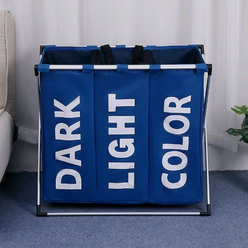 THREE GRID BASKET STORAGE BAG Others - shop in usa - canada - UK - Spain - France - Germany - Netherlands - Sweden - Navy blue