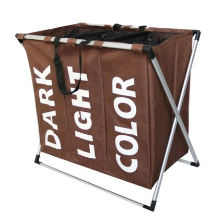 THREE GRID BASKET STORAGE BAG Others - shop in usa - canada - UK - Spain - France - Germany - Netherlands - Sweden - Brown
