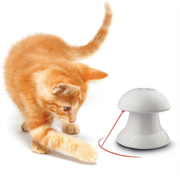 White Interactive Laser Cat Toy Home & Garden, Furniture / Pet Products / Cat Supplies - shop in usa - canada - UK - Spain - France - Germany - Netherlands - Sweden - Interactive LaserToy