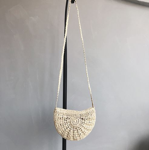 Women Tassel Knitting Straw Bag Bag & Shoes / Women's Luggage & Bags / Fashion Backpacks - shop in usa - canada - UK - Spain - France - Germany - Netherlands - Sweden - Creamy white