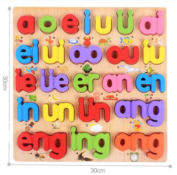 Wooden Educational Letter Toys Toys, Kids & Baby / Toys & Hobbies / Action & Toy Figures - shop in usa - canada - UK - Spain - France - Germany - Netherlands - Sweden - E
