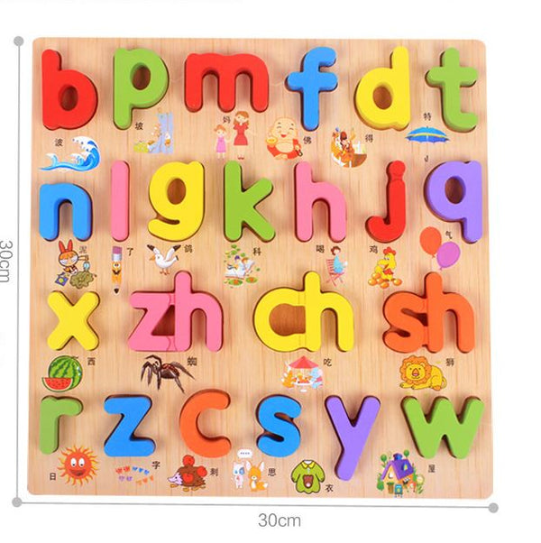 Wooden Educational Letter Toys Toys, Kids & Baby / Toys & Hobbies / Action & Toy Figures - shop in usa - canada - UK - Spain - France - Germany - Netherlands - Sweden - D