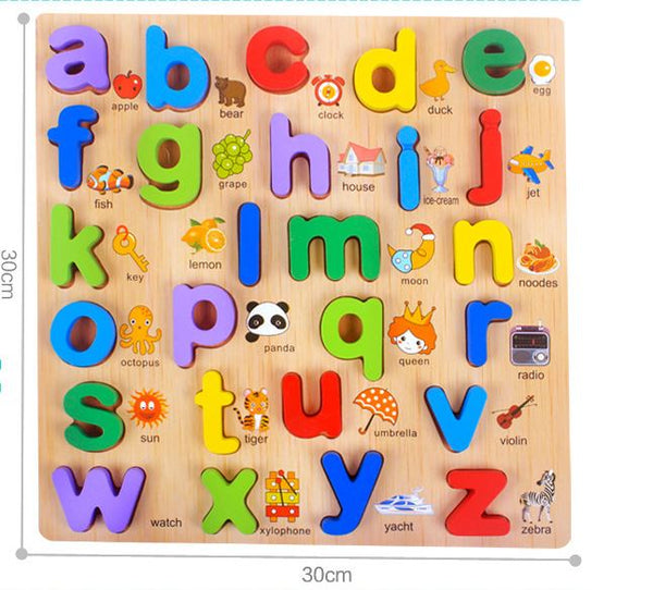 Wooden Educational Letter Toys Toys, Kids & Baby / Toys & Hobbies / Action & Toy Figures - shop in usa - canada - UK - Spain - France - Germany - Netherlands - Sweden - C