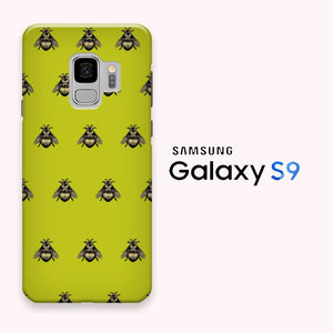 Bee Wallpaper Yellow Samsung Galaxy S9 3d Case Myltastore
