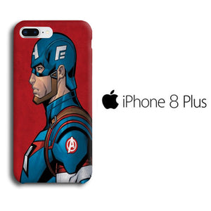 the latest f0544 b4724 Captain America Red Background iPhone 8 Plus 3D Case