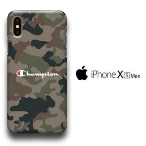 brand new 7f85d 03960 Champion Army Stitch Camo iPhone Xs Max 3D Case