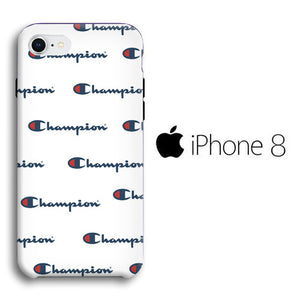 Champion White Wallpaper Iphone 8 3d Case