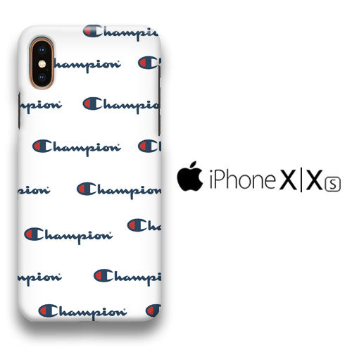 Champion White Wallpaper Iphone Xs 3d Case