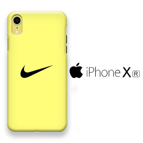 tetraedro Horror Basura  Nike Yellow iPhone XR 3D Case – myltastore