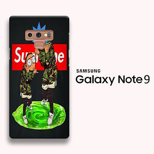 brand new 05908 daca6 Rick and Morty Supreme wallpaper Samsung Galaxy Note 9 3D Case