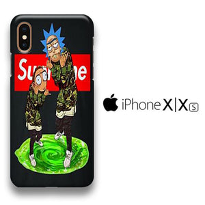 Rick And Morty Supreme Wallpaper Iphone Xs 3d Case