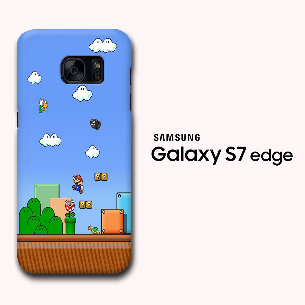Super Mario Wallpaper Samsung Galaxy S7 Edge 3d Case Myltastore