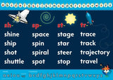 Word Walls - A3 Space poster set