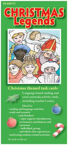 Christmas Legends Task Cards - set of 36