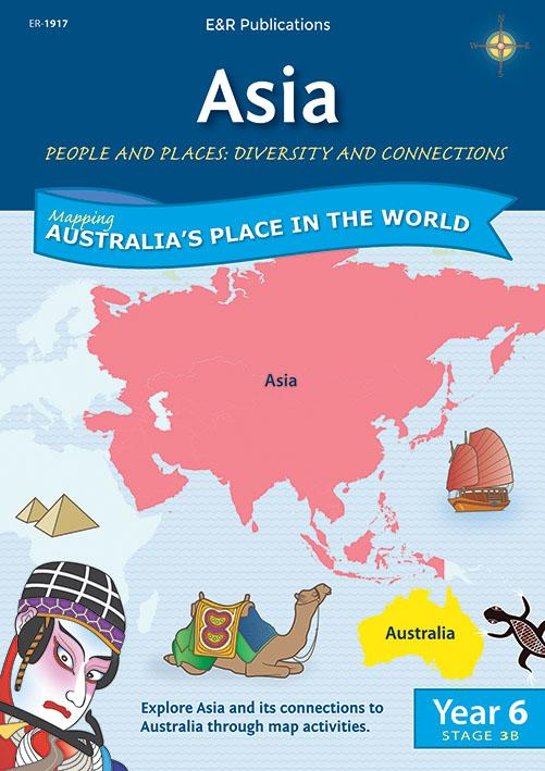 1917 | Asia Map Book Outlines - Year 6