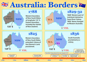 4534P | Australia: Borders, Federation posters