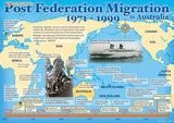 Migration to Australia poster, post Federation 1971–1999