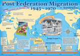 Migration to Australia poster, post Federation 1945–1970