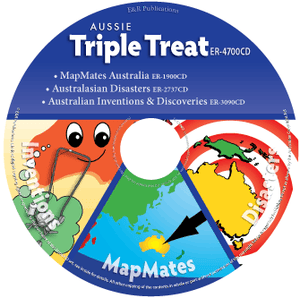 CD: Aussie Triple Treat: MapMates, Disasters, Inventions