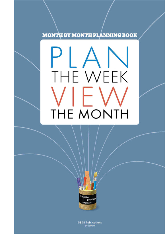 9000M | Month By Month Planning Book