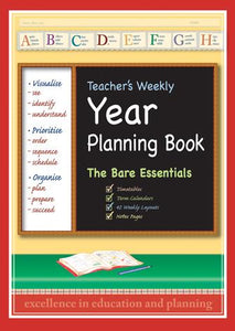 9000Y Teacher's Weekly Bare Essentials planner, orange cover