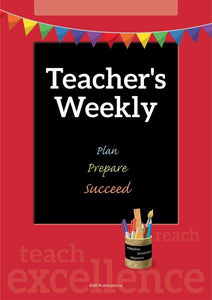 9000PR | Teacher's Weekly Undated Planner PRINTABLES