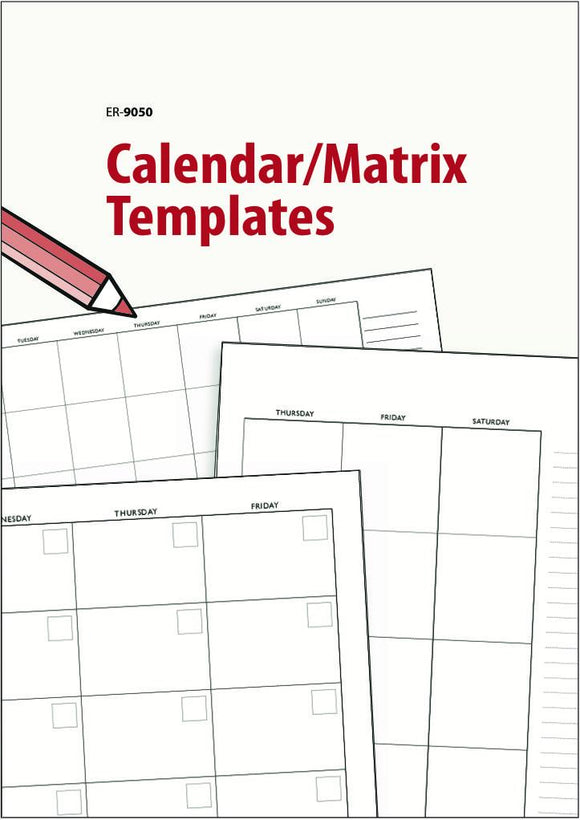 Calendar Matrix Templates EBOOK