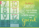 9000-20 | Gorgeous 2020 motivational calendar A3 poster