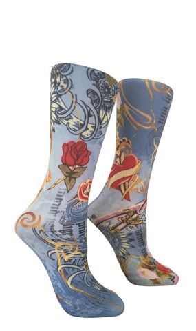 Soxtrot Kids Knee High - American Beauty